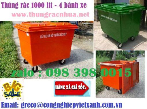 Thùng rác 1000 lít