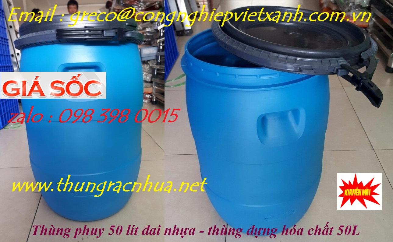 thung phuy 50 lit 2 Thùng phuy nhựa 50 lít chất lượng cao giá rẻ