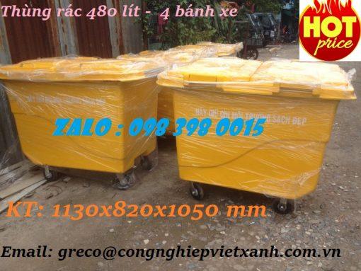 thùng rác composite 480 lít