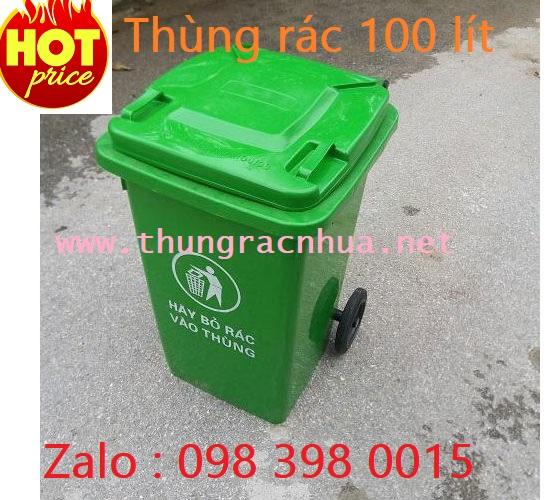 Bán thùng rác nhựa 100 lít, 098.398.0015 – Ms.Hồng